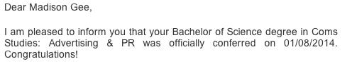 Diploma Conferred!